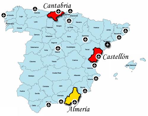 Map Of South East Spain.Montimar Properties Ltd Almeria Southeast Spain